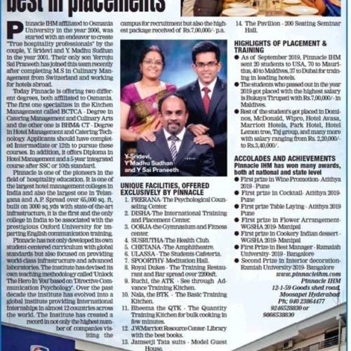 Biggest College and Best in Placement | Pinnacle IHM
