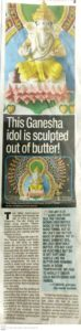 Ganesha Idol sculpted out of butter | Pinnacle IHM
